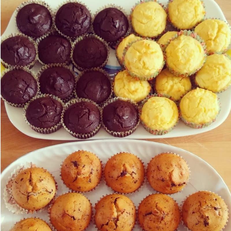 Muffin con farine naturali e cocco senza glutine e latte