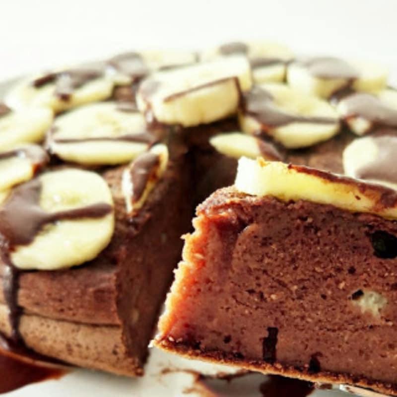 panqueque de cacao y plátano