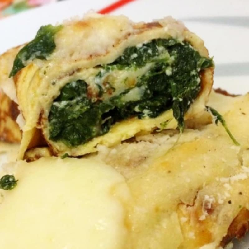 Crêpes with ricotta and spinach
