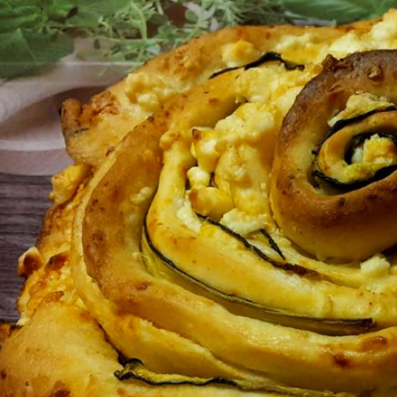 pan brioche Rosa con el calabacín