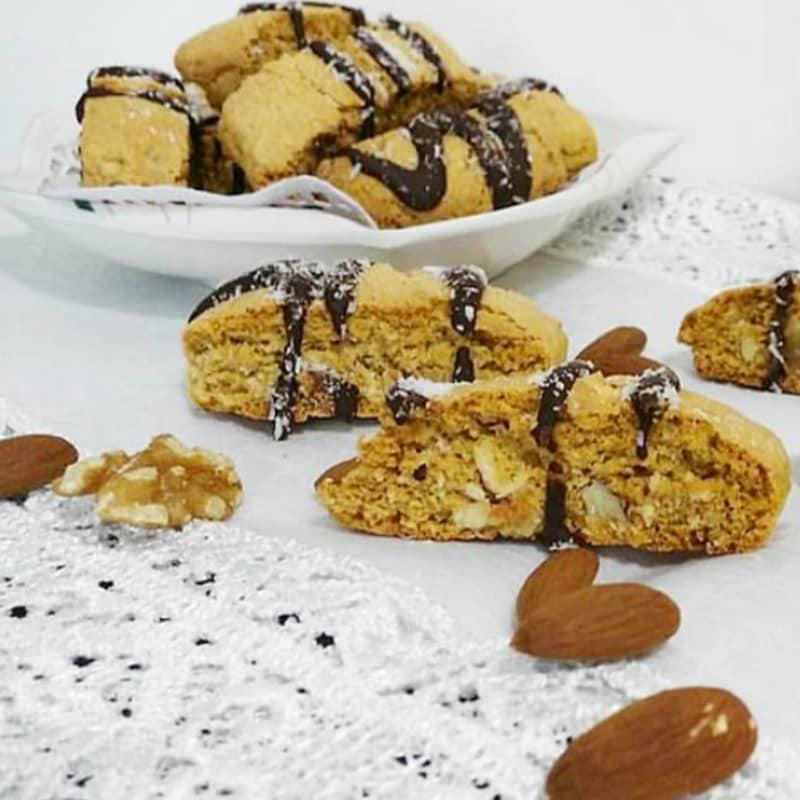 rústico coco Biscotti