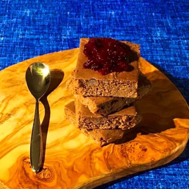 Brownie boniatos, castañas y cacao