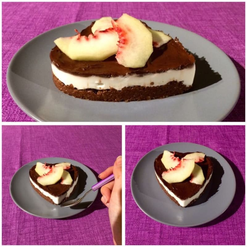 Healthy cheesecake glutenfree to double cocoa