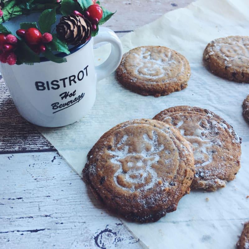 Cookies de Navidad con canela sin gluten y sin lactosa