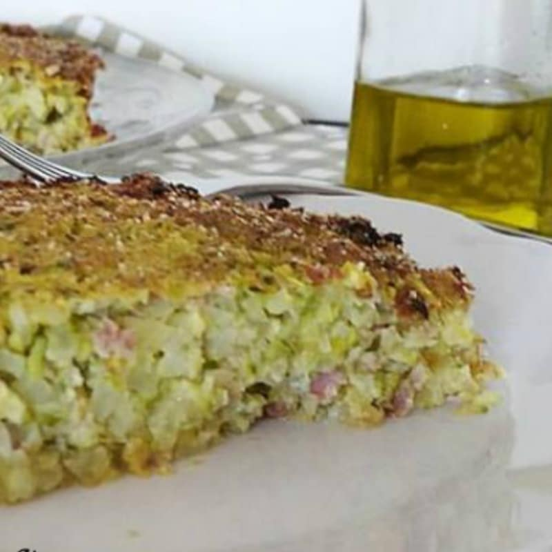 Gateau potatoes and zucchini
