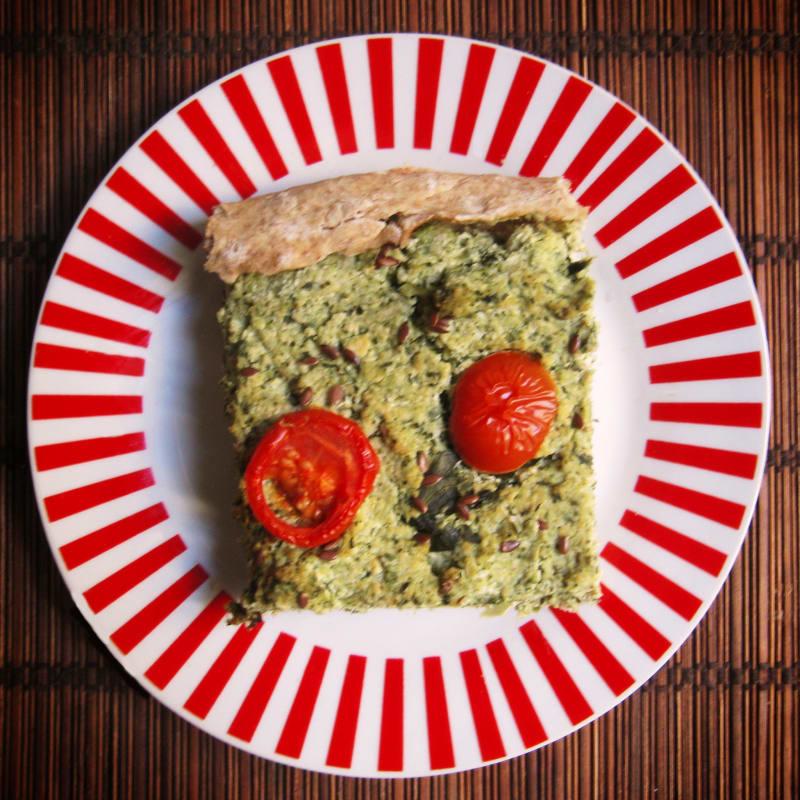 Torta salata broccoli e tofu