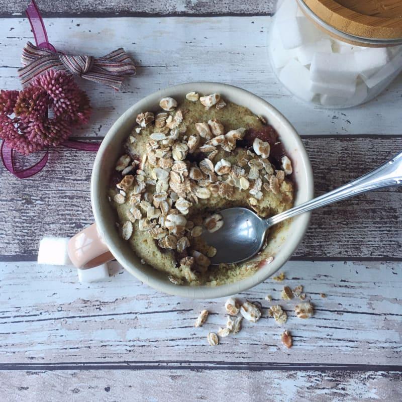 Taza de cereales torta vegana