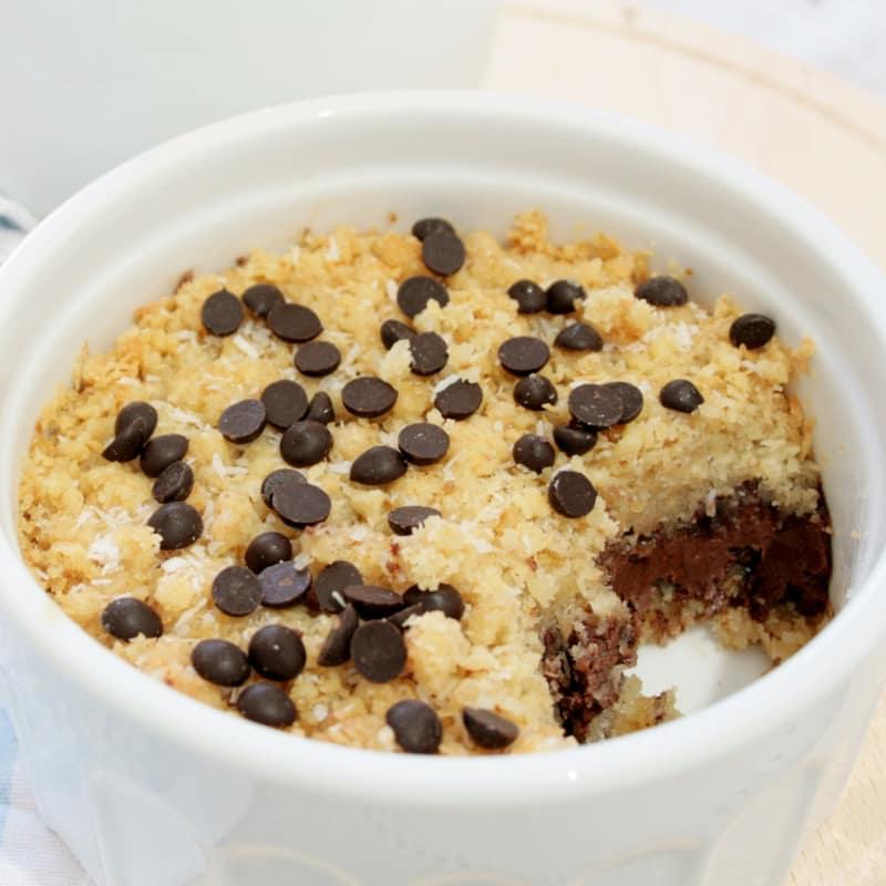 Desmenuzar coco y nutella