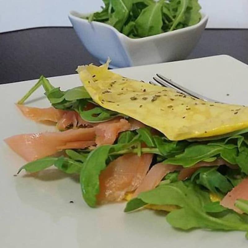 cohete tortilla y salmón