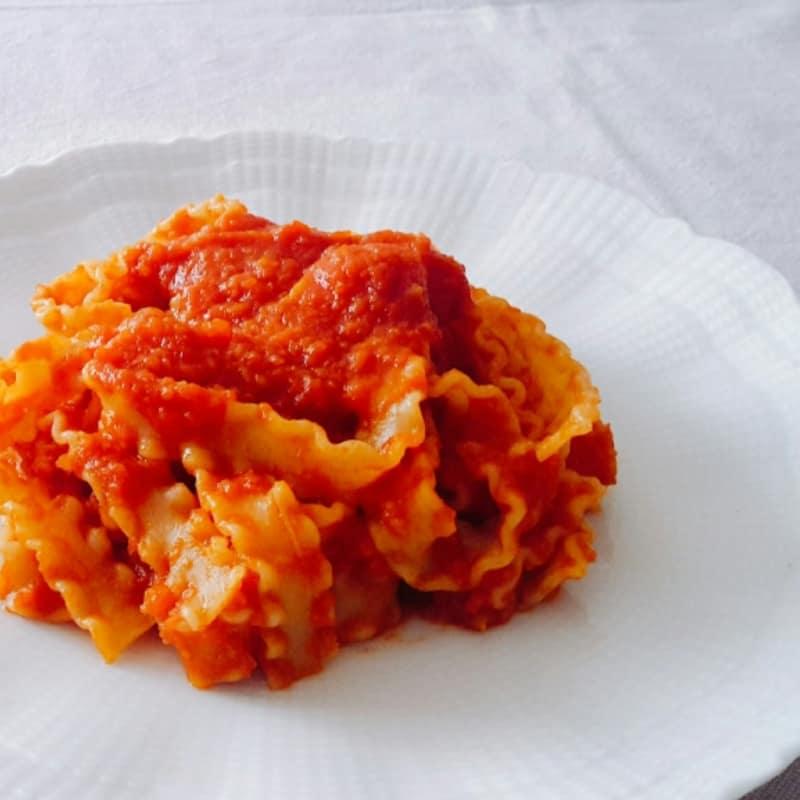 Mafalde con salsa de verduras