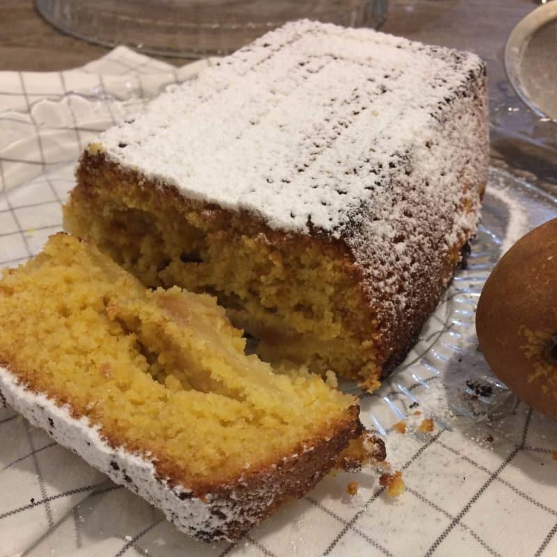 Plumcake polenta, peras y nueces