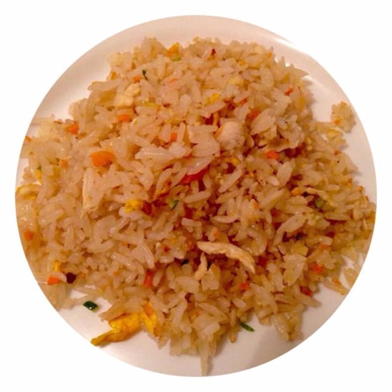 Rice skipped with chicken and vegetables