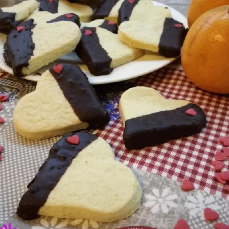 pastelería galletas de San Valentín con naranja y chocolate