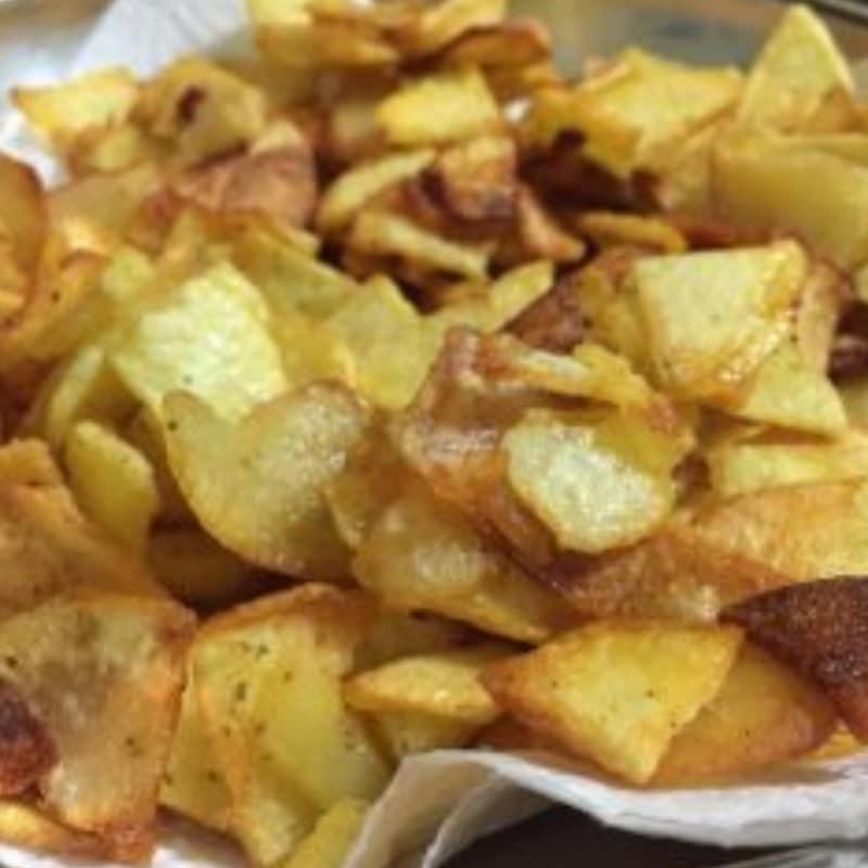 crujientes patatas fritas con especias