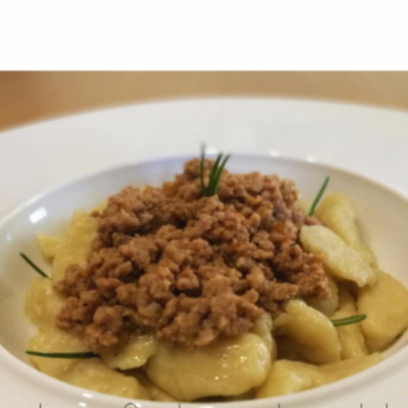 de salsa con albóndigas de patata