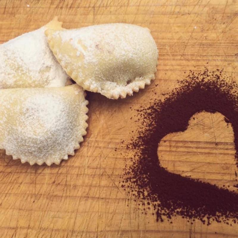 raviolis dulces rellenos de ricotta y chocolate