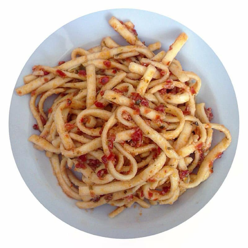 Scialatielli pesto de tomate seco