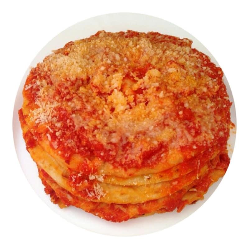 Lasagna with tuna sauce crepes