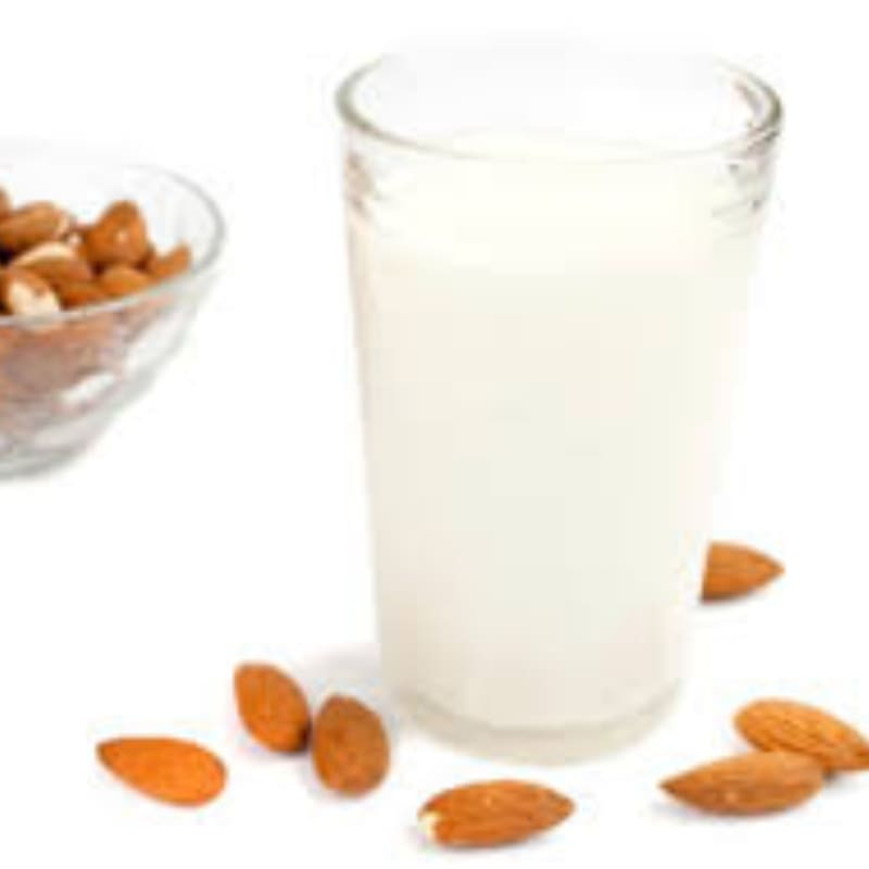 of homemade almond milk