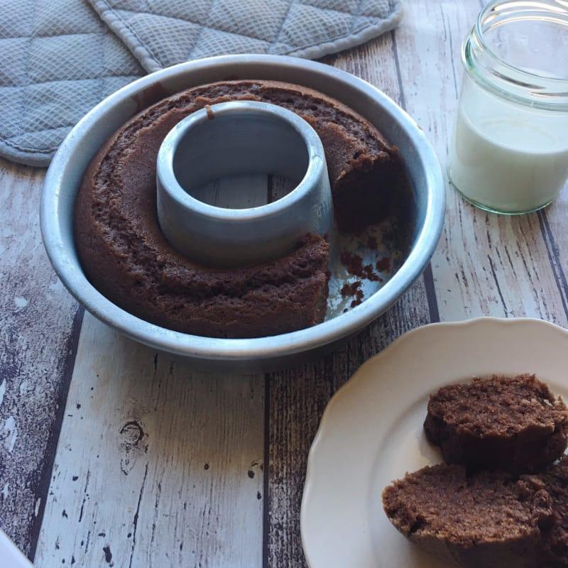 Kamut rosquilla vegetariana con el chocolate