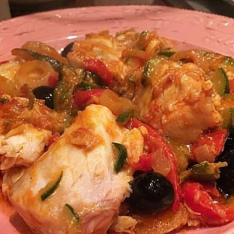 filetes de panga con verduras