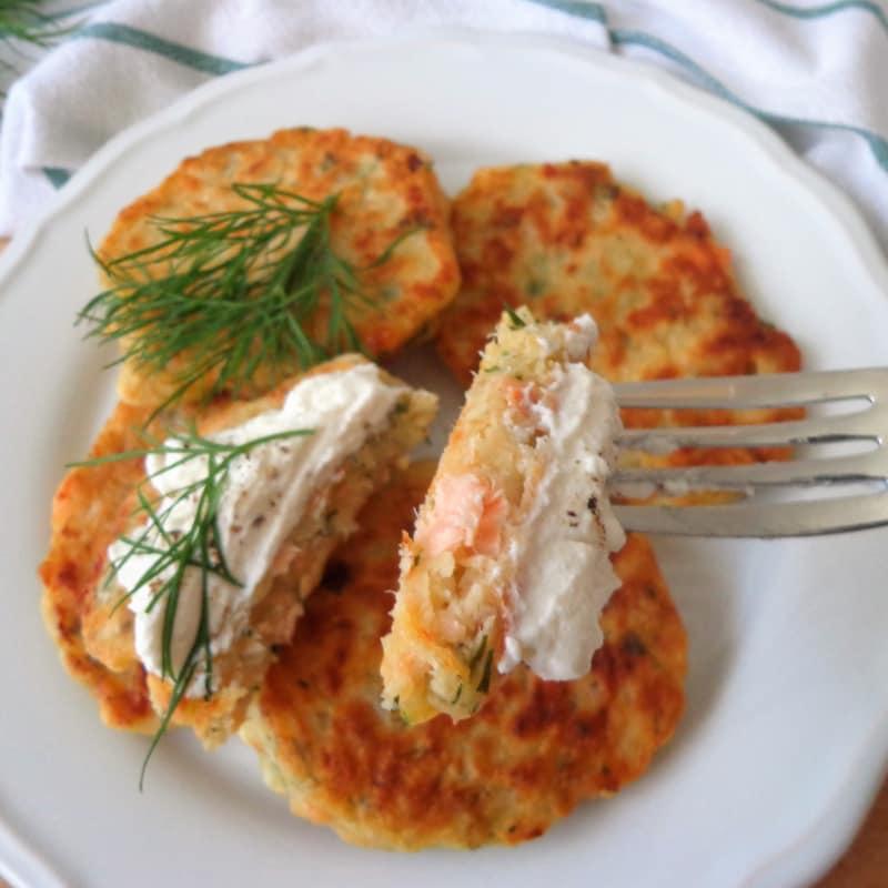 Buñuelos de salmón
