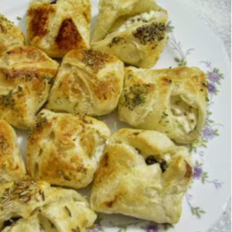 Bocconcini queso y aceitunas