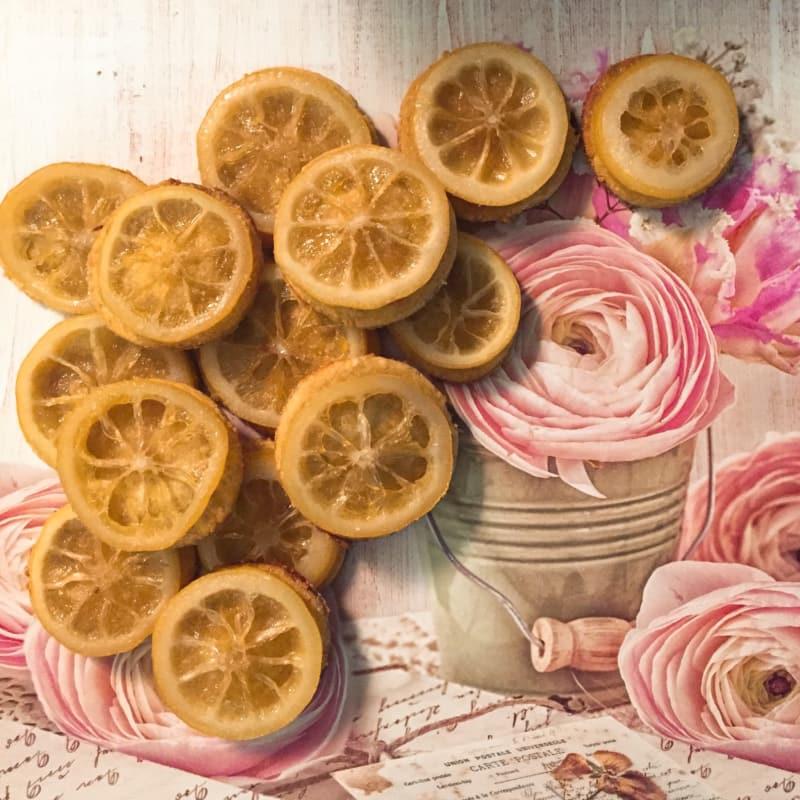 Galletas con limón confitado