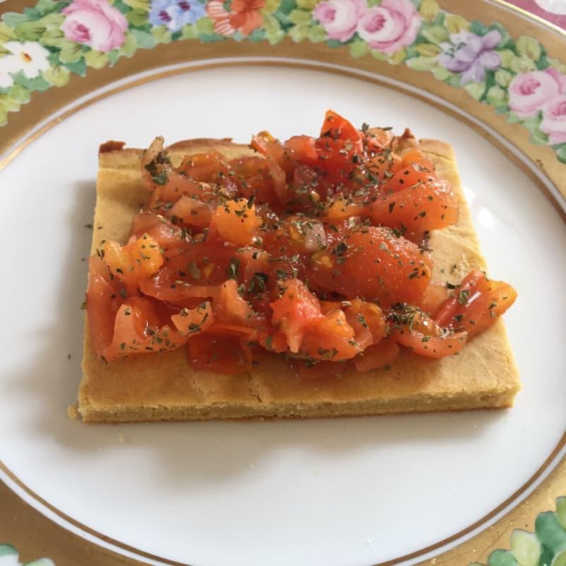 Gachas con tomates cherry