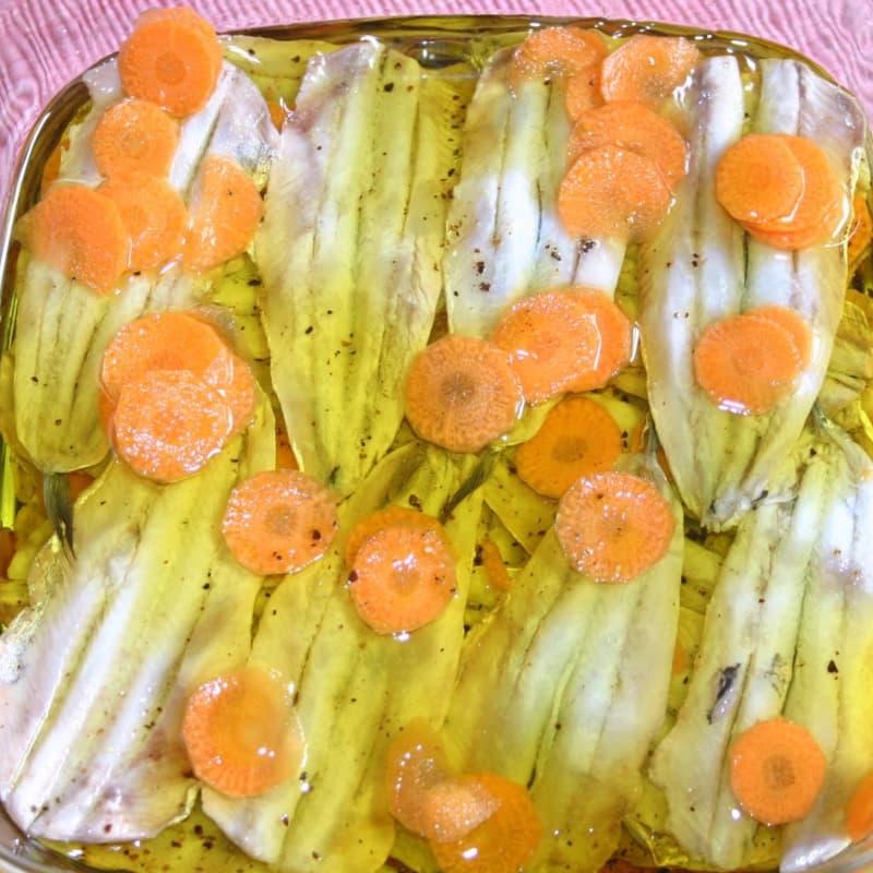 anchoas marinadas de la ciudad de Pazin