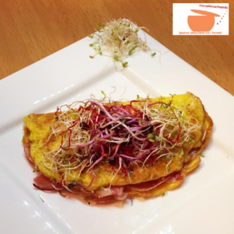 Omelette fantasiose con germogli vari