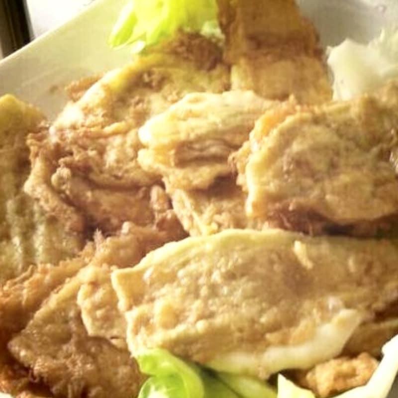 berenjena dorado y frito