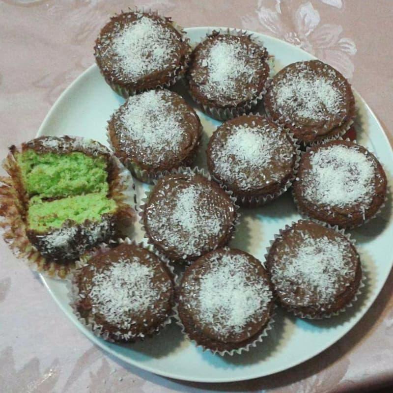 menta magdalenas de coco