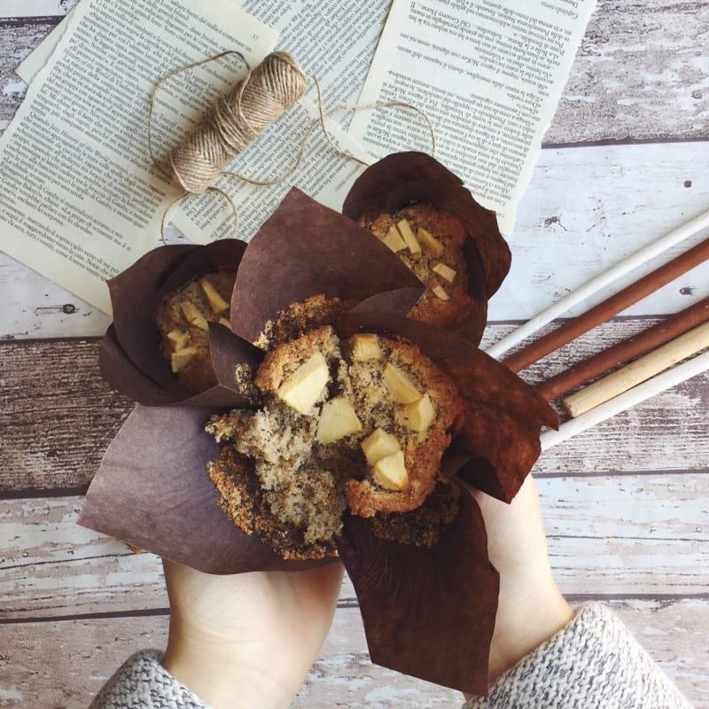 Muffins alle mele senza glutine e senza lattosio