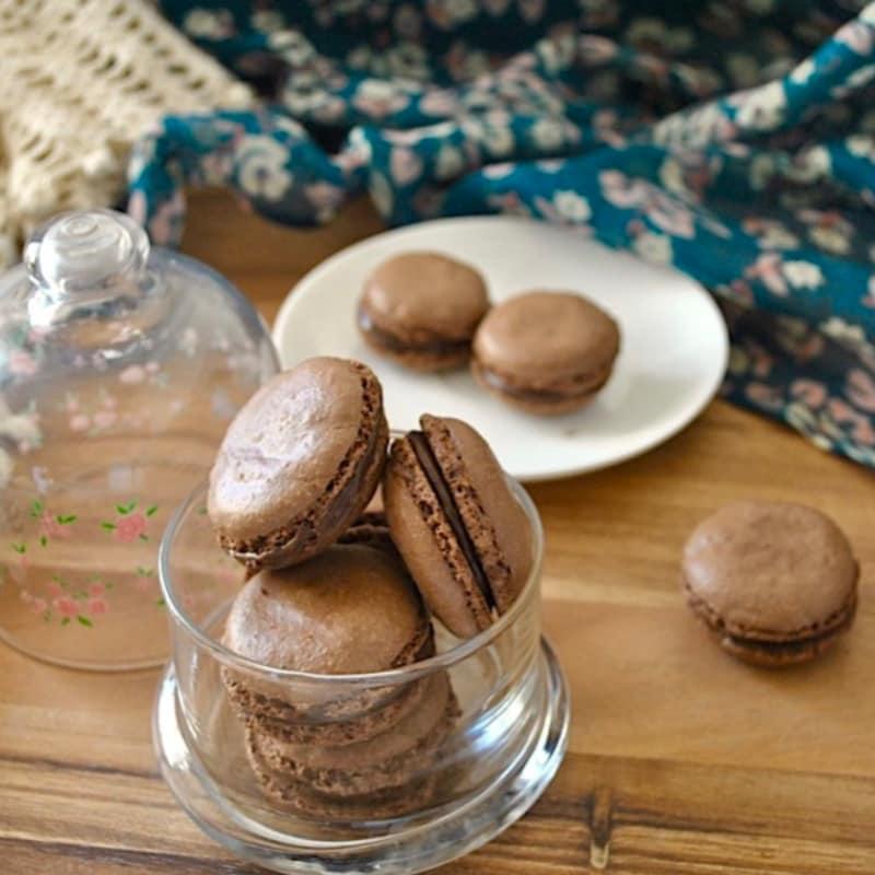 Macarons cocoa