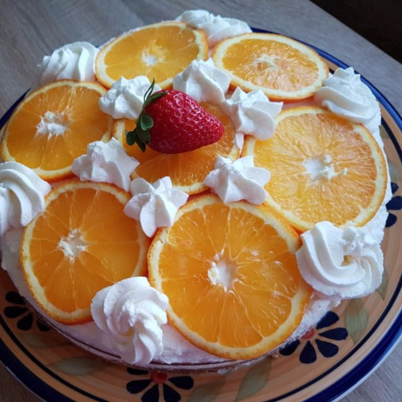 Cake with orange cream bimby method