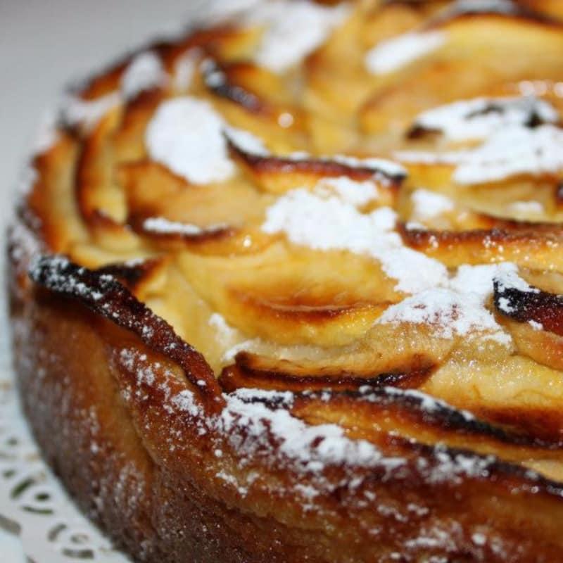 La torta más manzanas buenas en el mundo