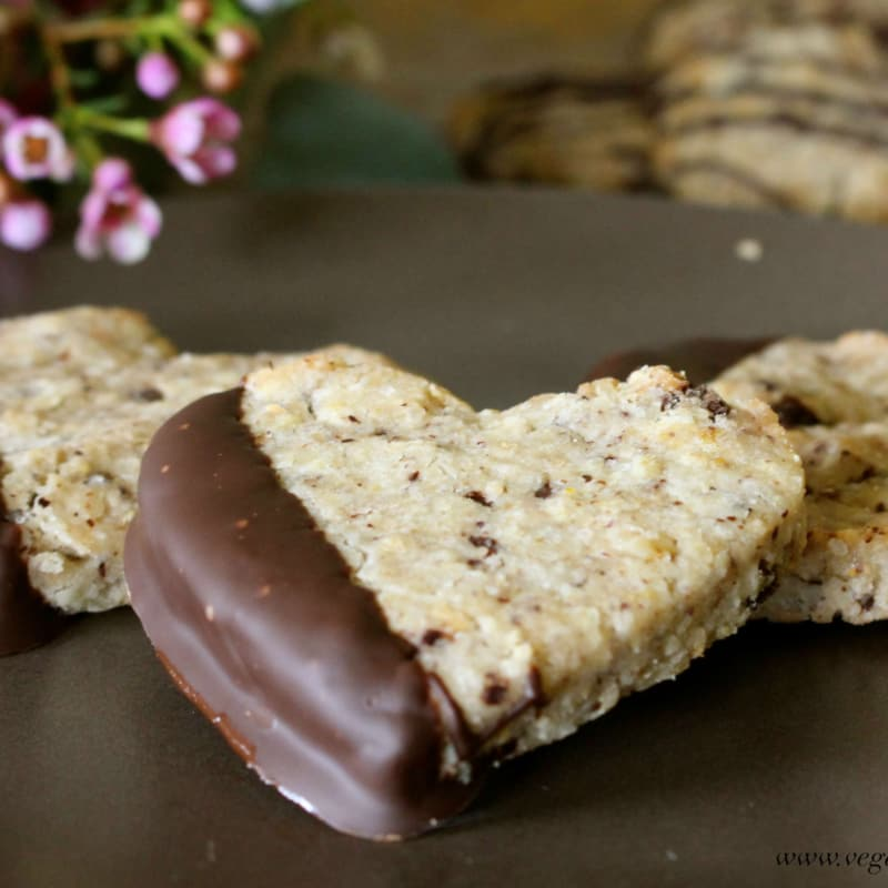 Almond biscuits and chocolate