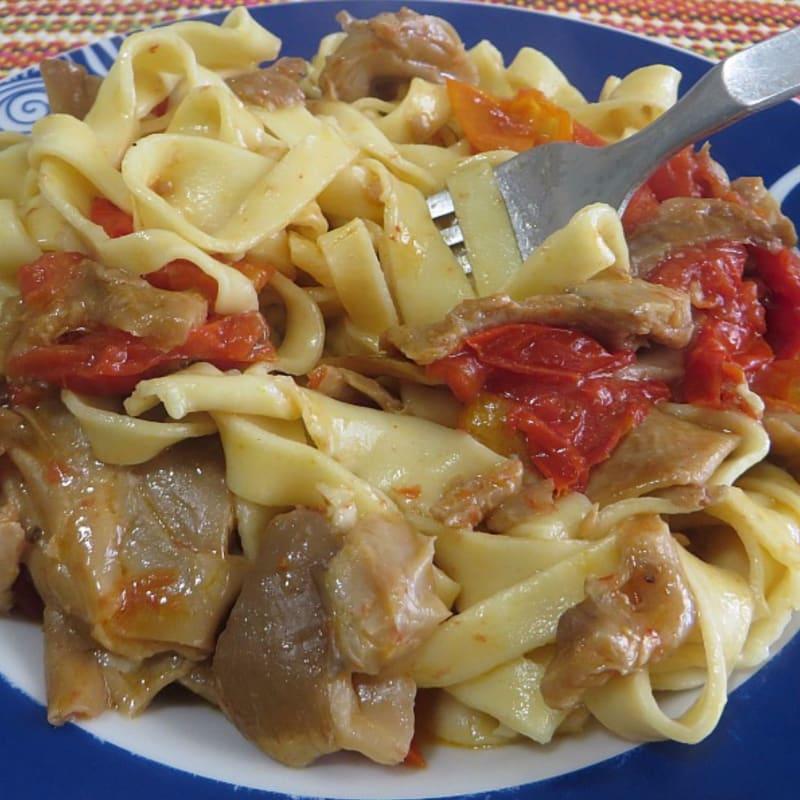 Fettuccine funghi e gorgonzola