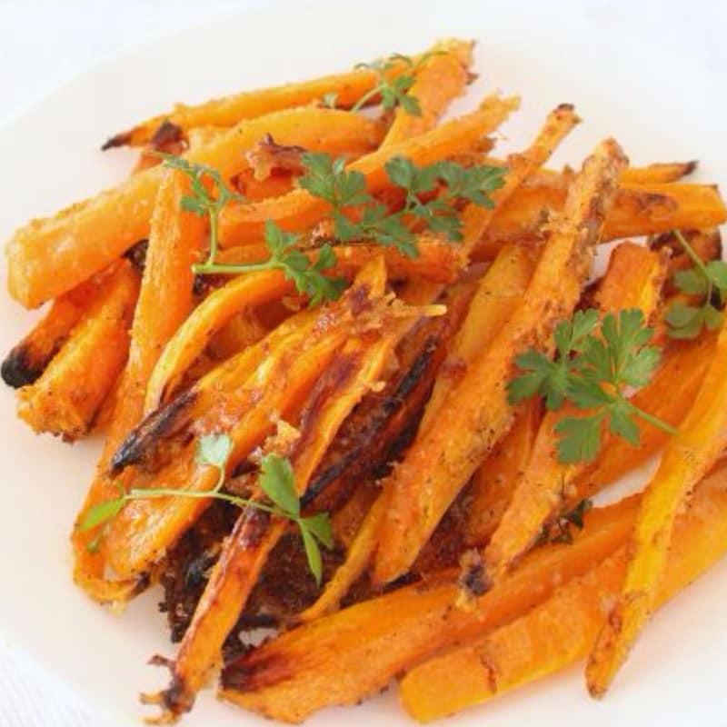 Chips de zanahorias al horno