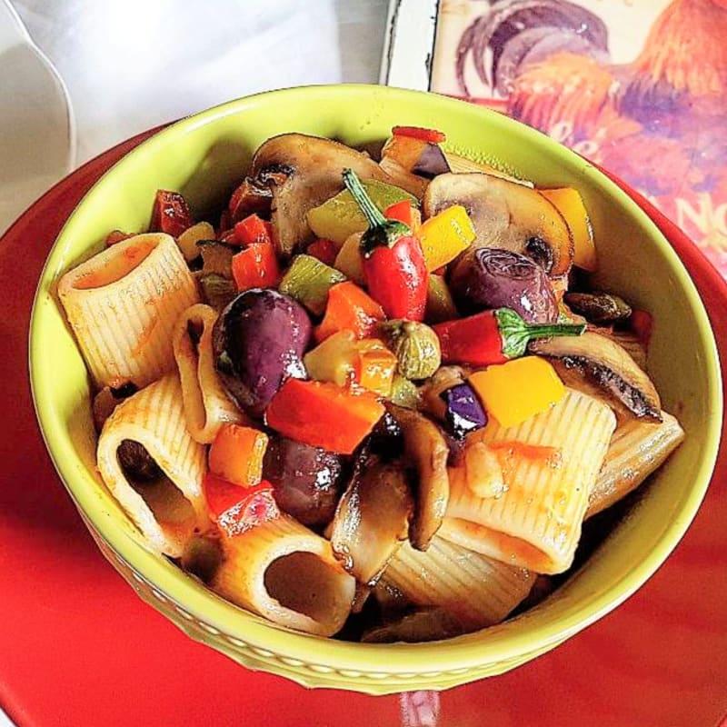 Paccheri con verduras