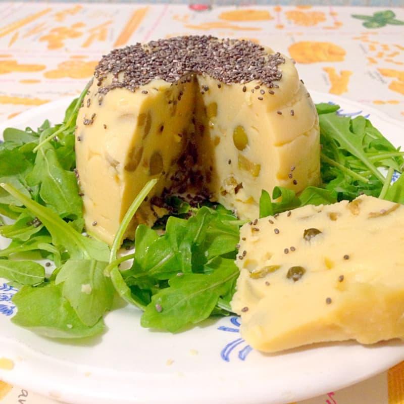 queso verduras