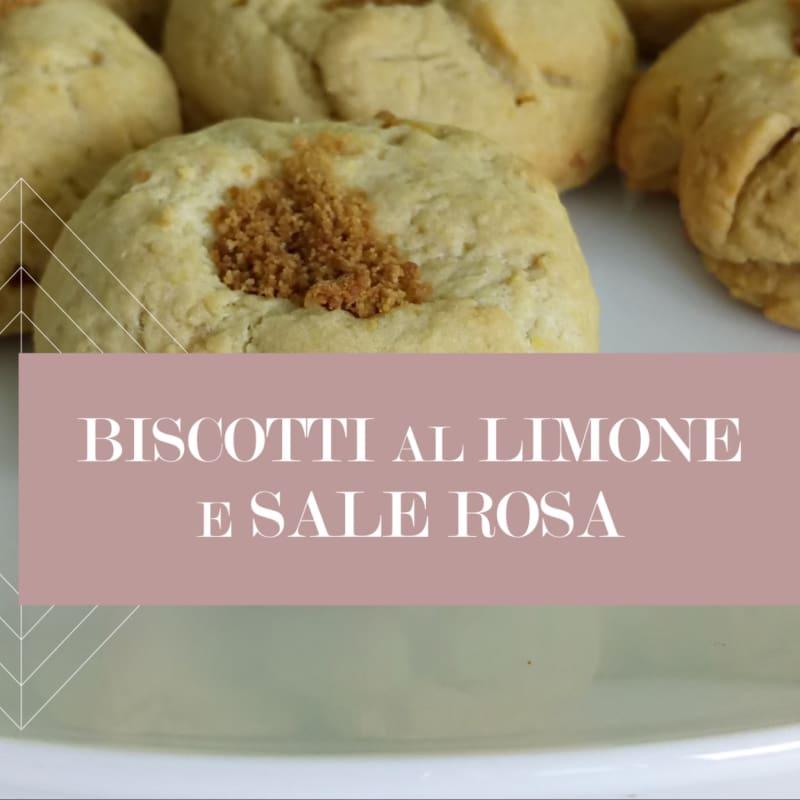 Biscotti al limone e sale rosa