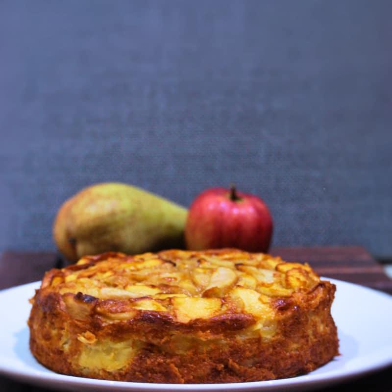 EL PASTEL INVISIBLE con manzanas y peras