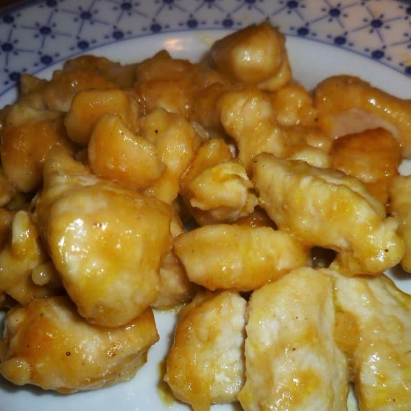 Pechuga de pollo a la naranja