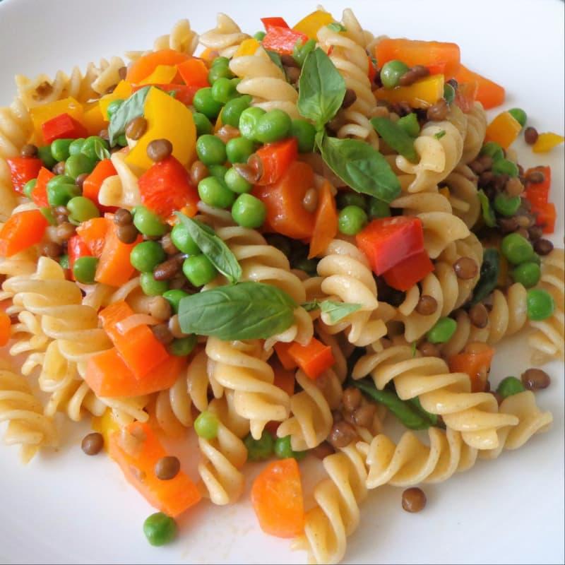 Pasta con ragout de verduras
