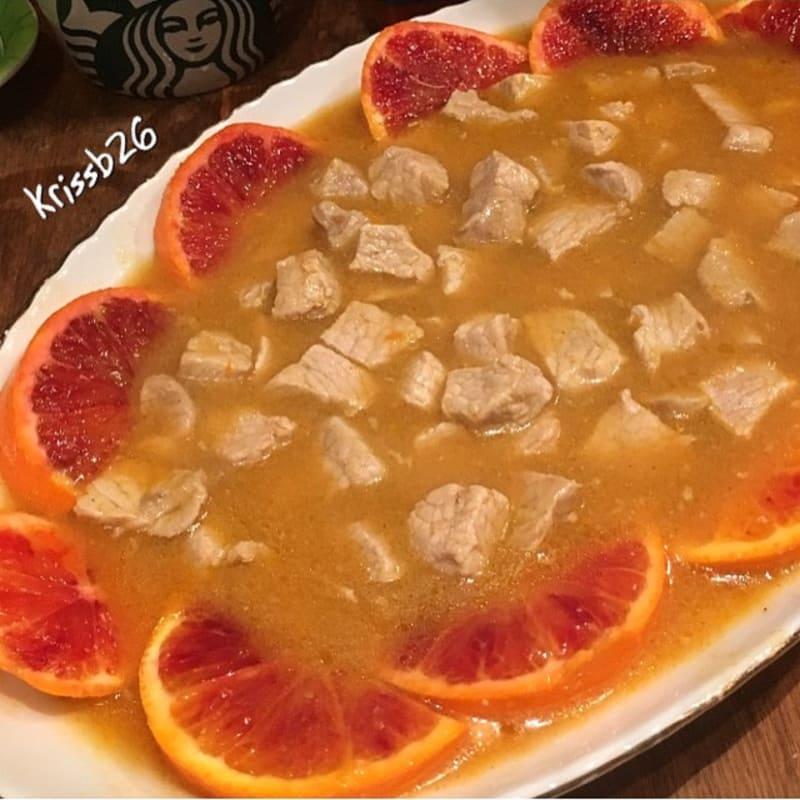 Lonza all'arancia