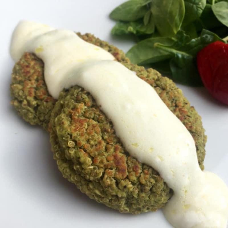 Hamburgersa vegana de garbanzo con quinoa