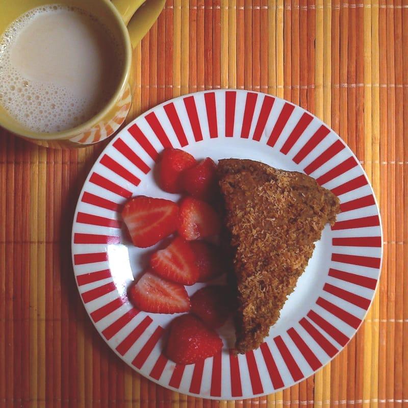 pastel aromático sin gluten