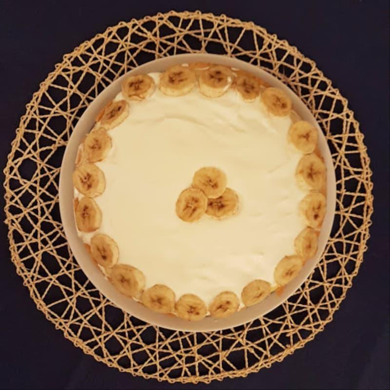 pastel de crema de plátano
